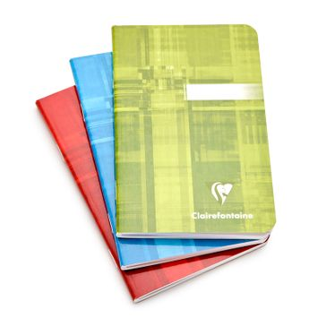 Clairefontaine Classic Pocket Side Staple Bound Notebook (3.5 x 5.5) in Ruled (lined pages) [63596]