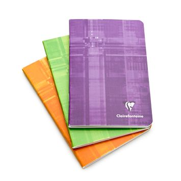 Clairefontaine Classic Pocket Side Staple Bound Notebook (4.25 x 6.75) in Ruled (lined pages) [3606]