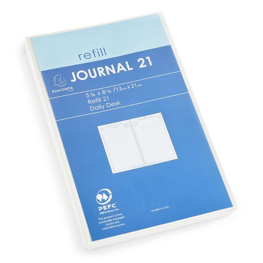 SALE / Quo Vadis Journal 21 Daily Planner Refill (Ref. #2201) (5.25 x 8.25) ( 2021 )
