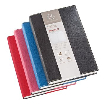 Quo Vadis 2022 Journal 21 Daily Planner with Club Cover (5.25 x 8.25) Red
