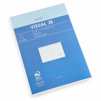 SALE / Quo Vadis Visual Weekly Planner Refill (Ref. #2001) (6 x 8.25) in 2021