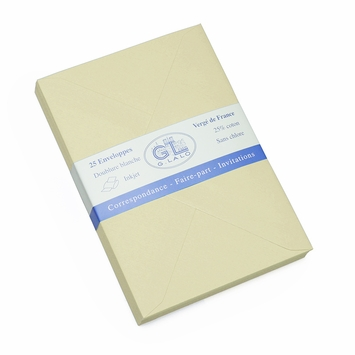 G. Lalo Verge de France Medium Envelopes (4.5 x 6.25) in Ivory
