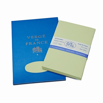 G. Lalo Verge De France Medium Tablet and Envelope Set (5.75 x 8.25) in Pistachio