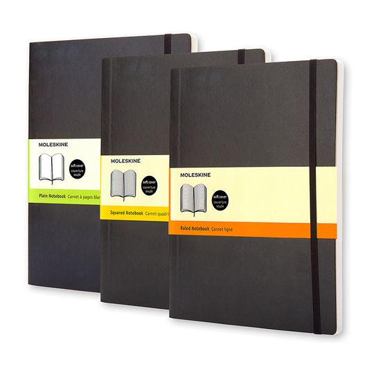 Moleskine Classic Extra Large Soft Cover Notebook (7.5 x 9.75) ( Black )