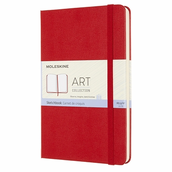 Moleskine Classic Large Sketchbook (5 x 8.25) in Red