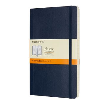 Moleskine Classic Large Soft Cover Notebook (5 x 8.25) in Sapphire Blue