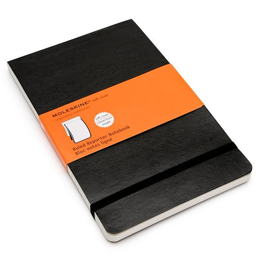 Moleskine Reporter Large Soft Cover Notebook (5 x 8.25) ( Black )