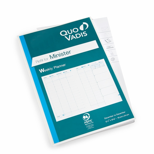 SALE / Quo Vadis Minister Weekly Planner Refill #15 (Ref. #1501) (6.25 x 9.375) ( 2021 )