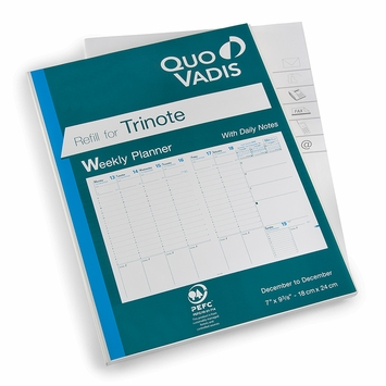 Quo Vadis Trinote Weekly Planner Refill #48 (Ref. #4801) (7 x 9.375)