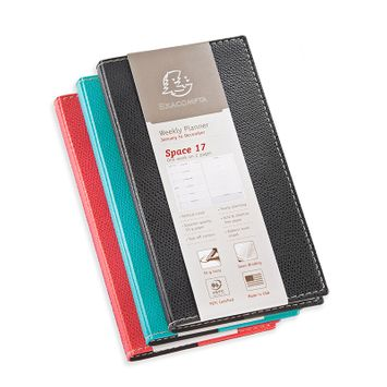 Quo Vadis 2022 Space 17 Weekly Planner with Club Cover (3.5 x 6.75) Turquoise