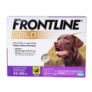 Frontline Gold For Dogs 45-88 lbs, Purple 3 Tubes