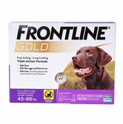 Frontline Gold For Dogs 45-88 lbs, Purple 6 Tubes