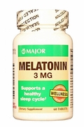 Melatonin 3mg, 60 Tablets