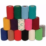 "Powerflex Bandage 4""x 5 Yard Roll, Red"