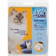 Soft Paws Nail Caps For Cats, Large 14+ lbs, 40 Caps Clear