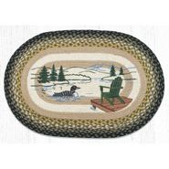 Adirondack Loon Oval Patch Braided Rug