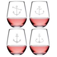 Ahoy Assortment Stemless Tumblers - S/4