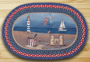 American Coast Oval Patch Braided Rug