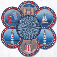American Coast Trivets in a Basket