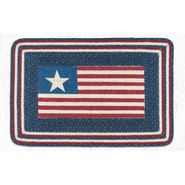 American Flag Oblong Patch Braided Rug