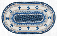 Anchor Oval Patch Braided Rug