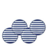 Beach Towel Stripe Blue Canape Plate (M)