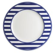 Beach Towel Stripe Blue Charger Plate (M)