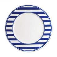 Beach Towel Stripe Blue Dinner Plate (M)