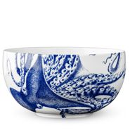 Blue Lucy Large Round Serving Bowl