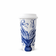 Blue Lucy Travel Mug