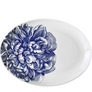 Blue Peony Coupe Oval Platter