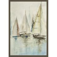 Blue Sailboats III Wall Art