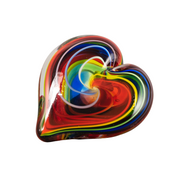 Bohemian Hearts of Fire Paperweight
