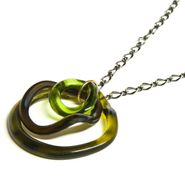 Brass Large Wave Pendant