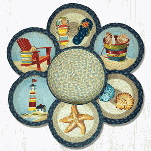 By The Sea Trivets in a Basket