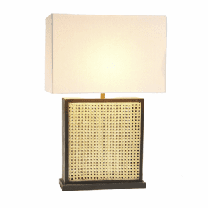 Cane Table Lamp with Shade