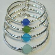 Cape Cod Classic Sea Glass Soft Bangle Bracelet