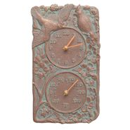 Cardinal Indoor Outdoor Wall Clock Thermometer (CV)