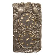 Cardinal Indoor Outdoor Wall Clock Thermometer (FB)