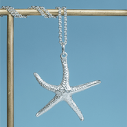 Cast Starfish Necklace