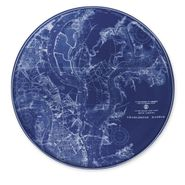 Charleston Harbor Chart Coupe Platter