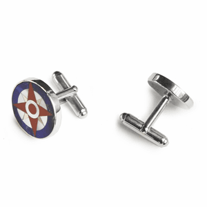 Compass Rose Inlay Cufflinks