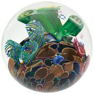 Cool Pool Blown Glass Paperweight