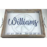 Latitude/Longitude Name Serving Tray