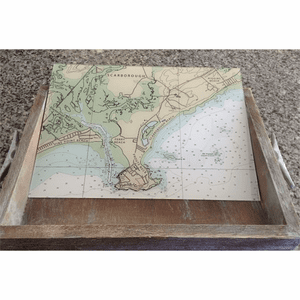 Nautical Chart Serving Tray