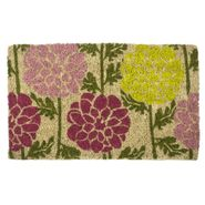 Dahlias Handwoven Coconut Fiber Door Mat