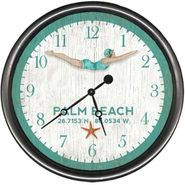 Dive Girl Wall Clock