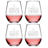 Down the Hatch Assortment Stemless Tumblers - S/4
