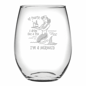 Drink Like a Fish Stemless Wine Glasses - S/4
