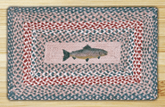 Fish Rectangle Braided Rug